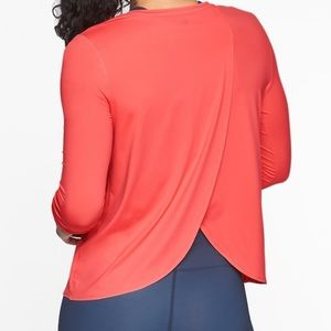 Athleta Tops - Athleta Sunlover tank Coral flash tulip back M